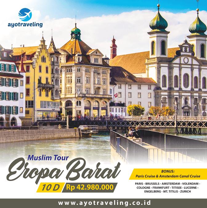 Paket Tour Wisata Muslim Eropa Barat 10 Hari (Bonus Paris Cruise & Amsterdam Canal Cruise) November - Desember 2018