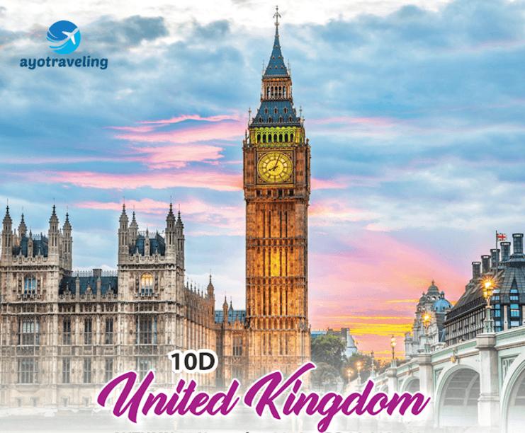 Paket Wisata 10 D United Kingdom November - Desember 2018